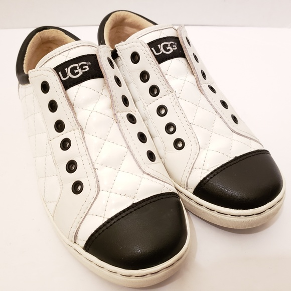 9f66fd2d578 UGG Jemma Shearling Lined White/Black Sneakers